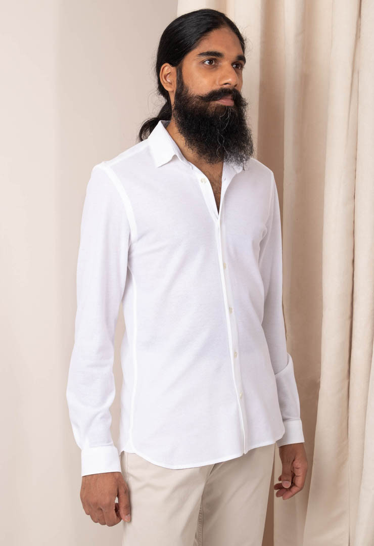 Chemise Jersey Blanche