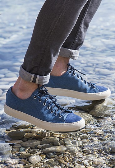 Sneakers en chambray Buttero