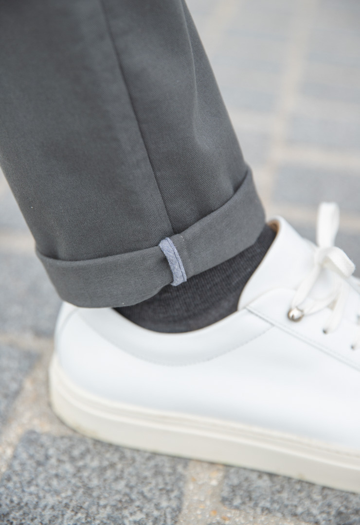 chino anthracite bonnegueule