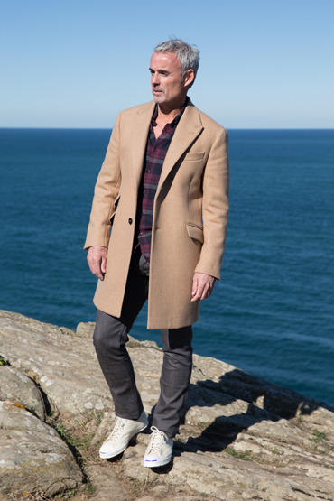 look manteau camel