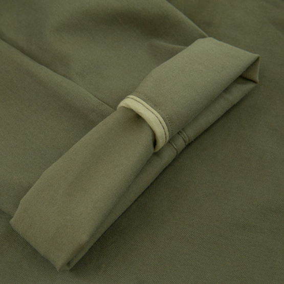 zoom interieur ganse chino stretch olive bonnegueule