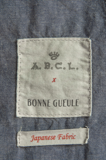 étiquette collaboration abcl garments bonnegueule chambray