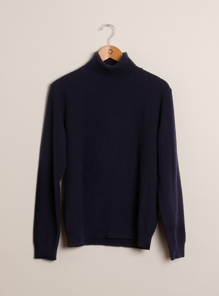 couv 2 pull col roulé navy