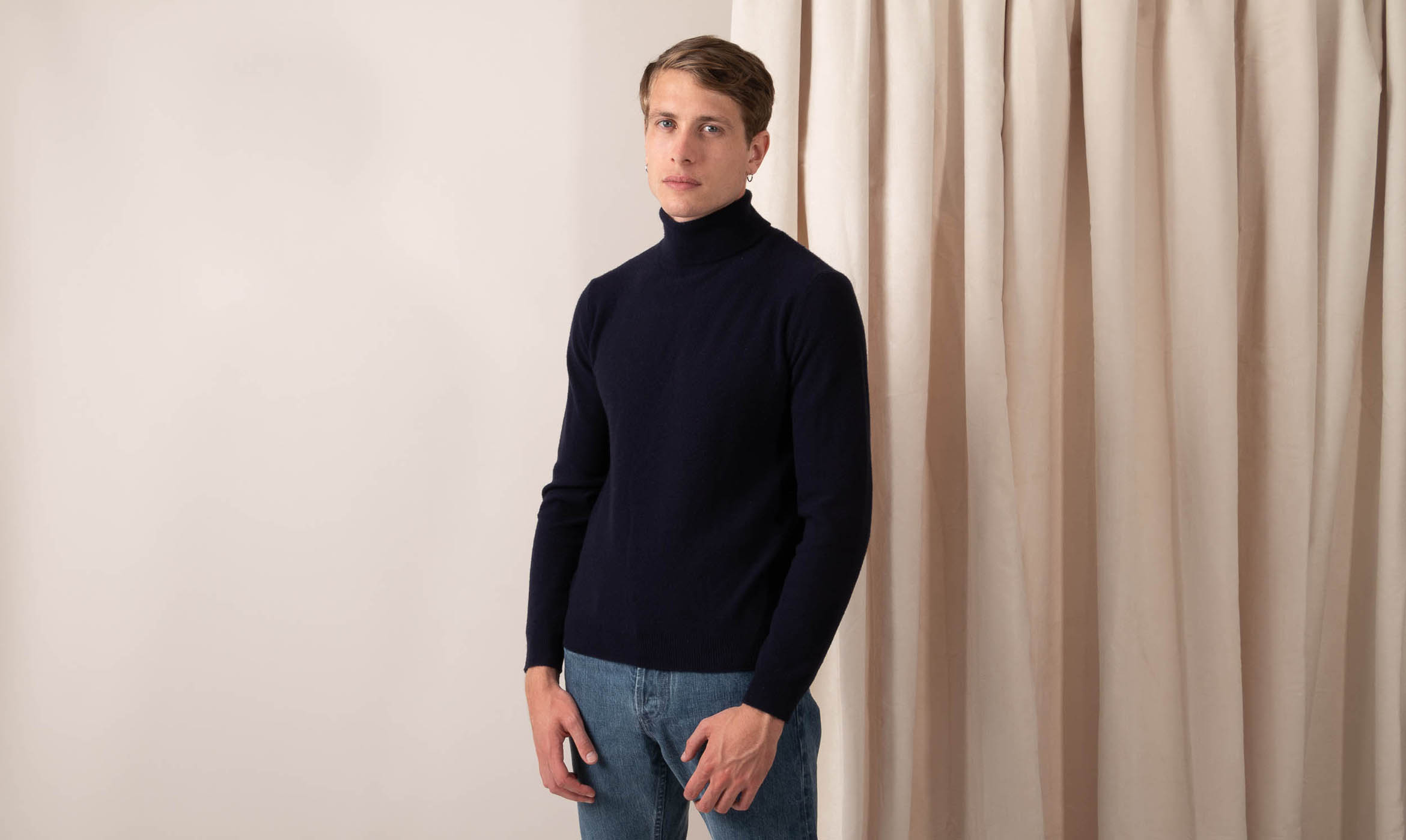 couv pull col roulé navy