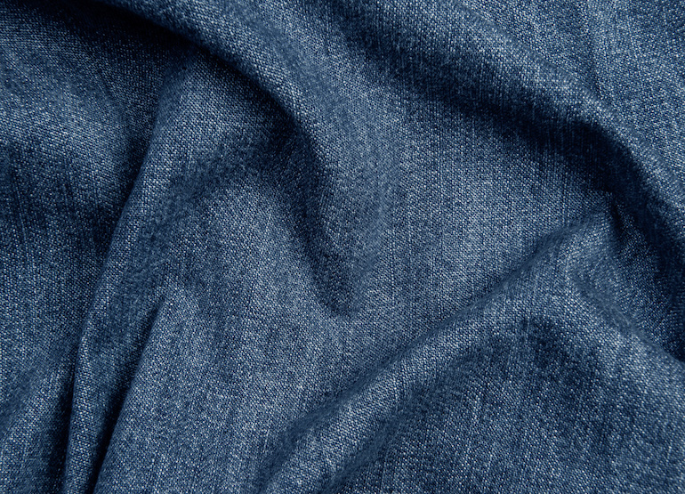 close up denim foncé