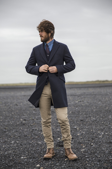 mouvement navy coat