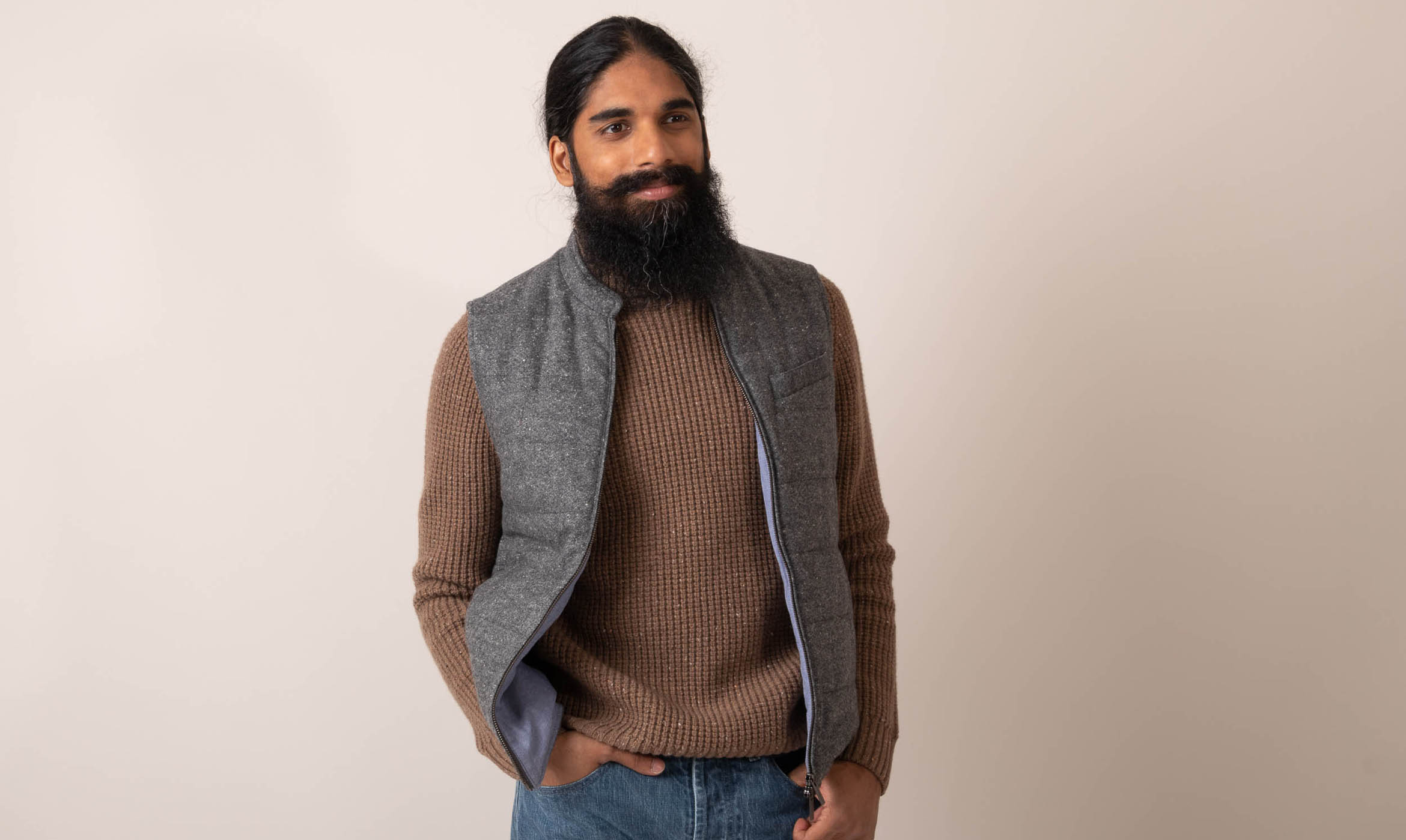 couv gilet tweed donegal