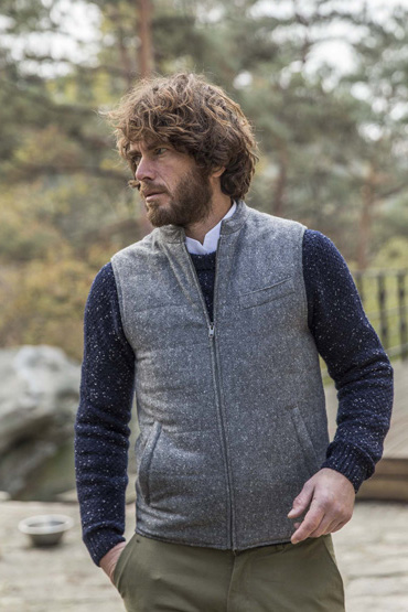 couv 370 gilet tweed donegal