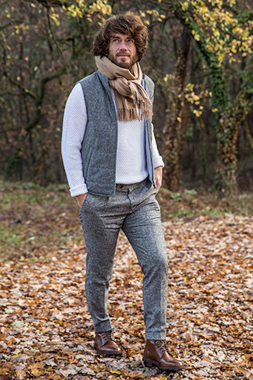 look doudoune sans manches donegal pull maille