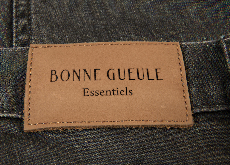 jean gris stretch bonnegueule