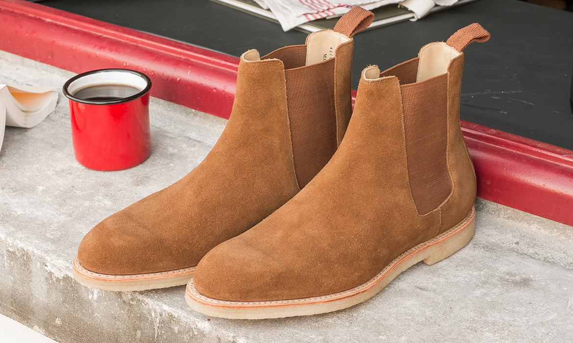 couv chelsea boots camel