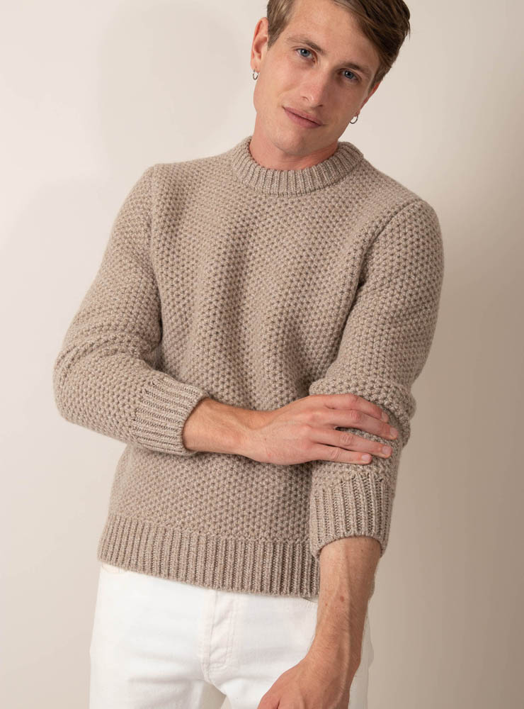 couv 370 pull grosse maille beige