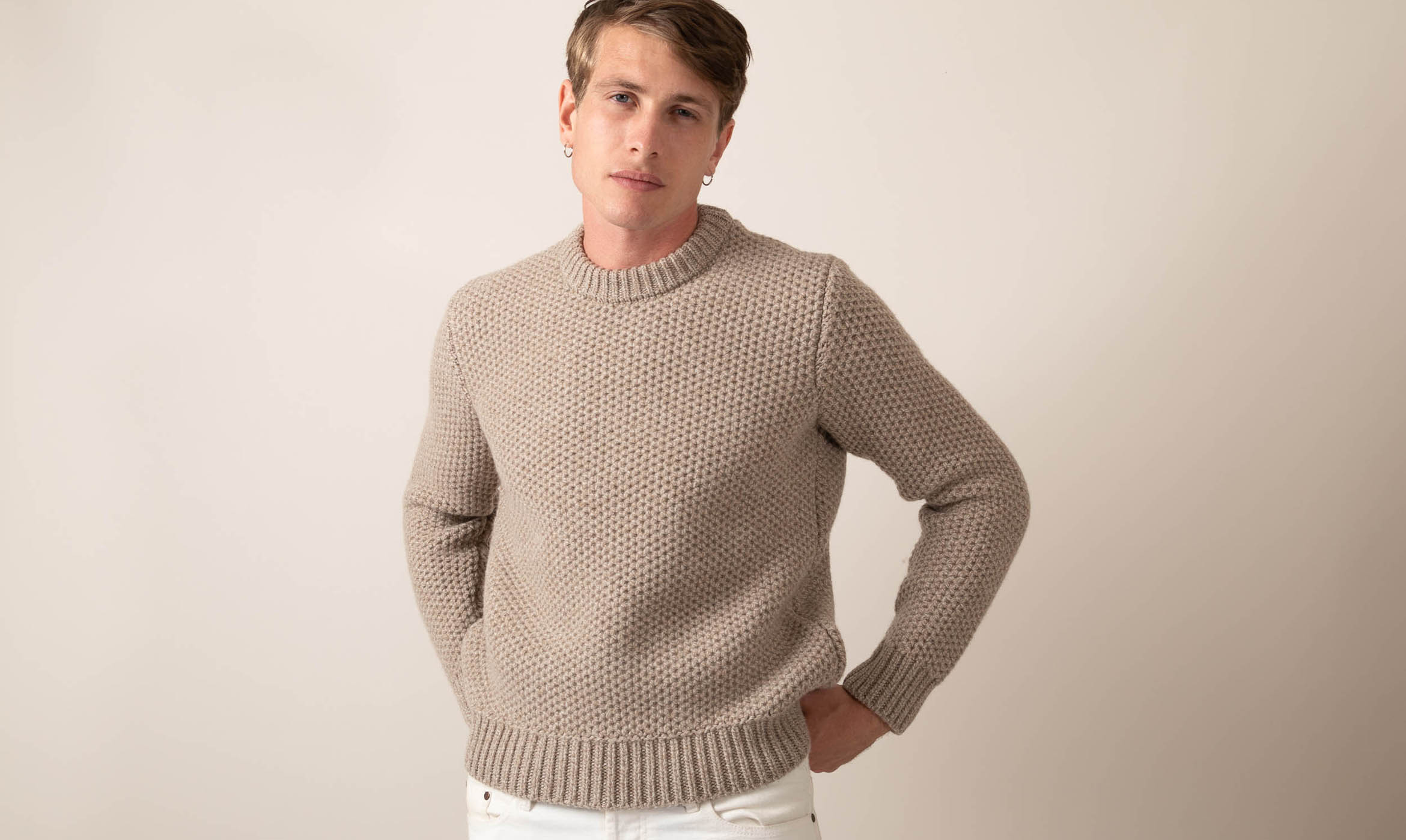 couv pull grosse maille beige 1