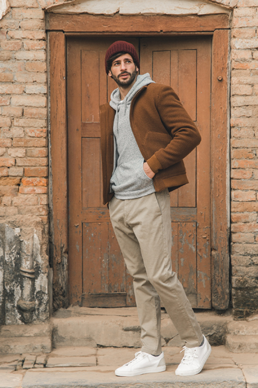 look blouson chameau camel chino sweat