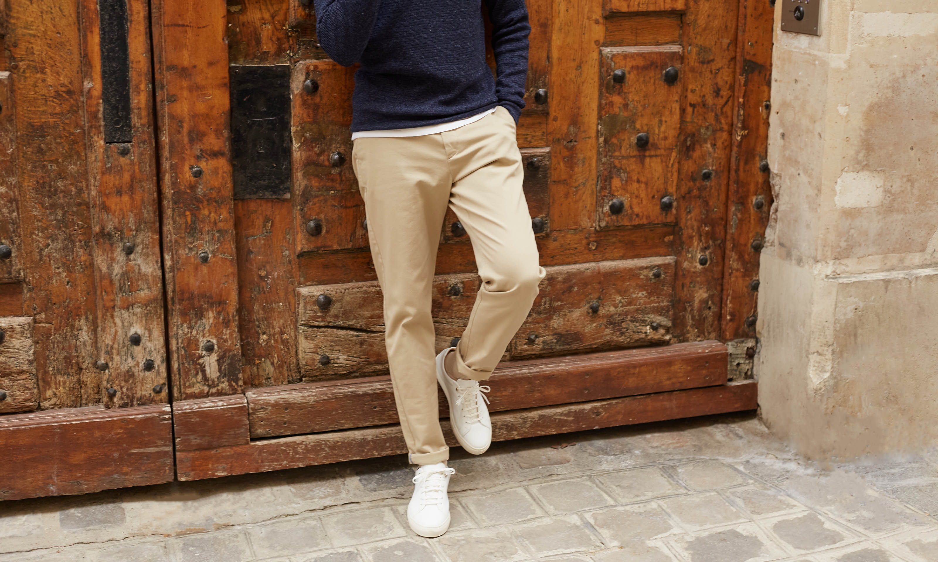 coupe chino axel beige clair