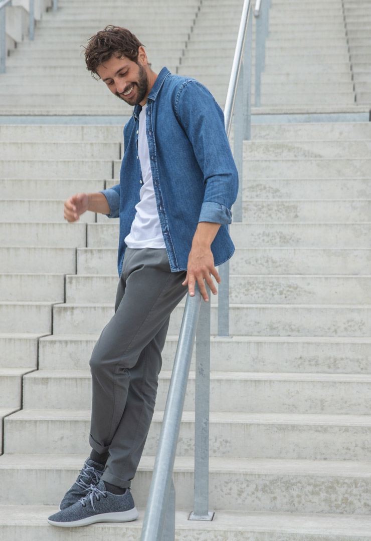 look 1 chino axel anthracite bonnegueule