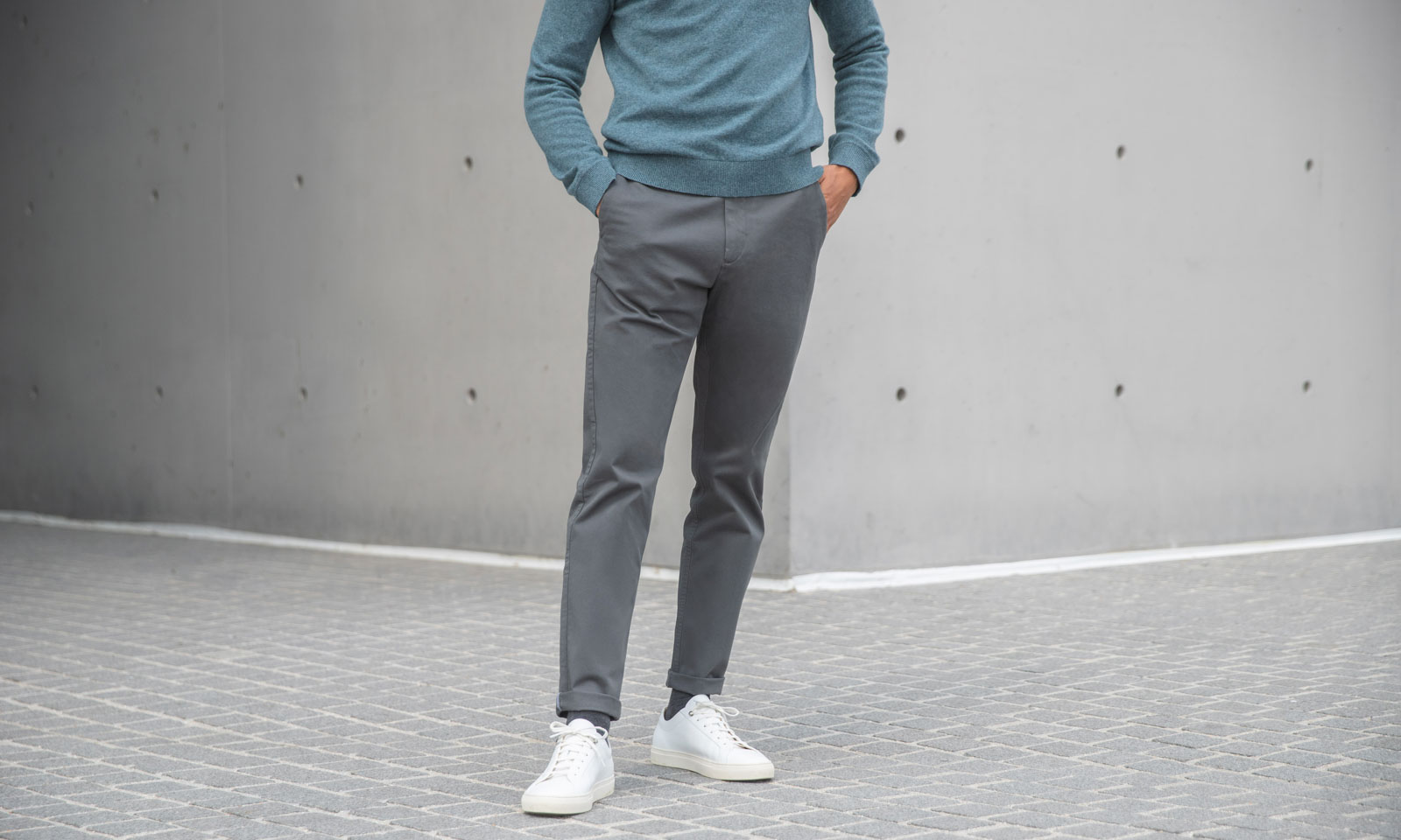 coupe chino axel anthracite bonnegueule