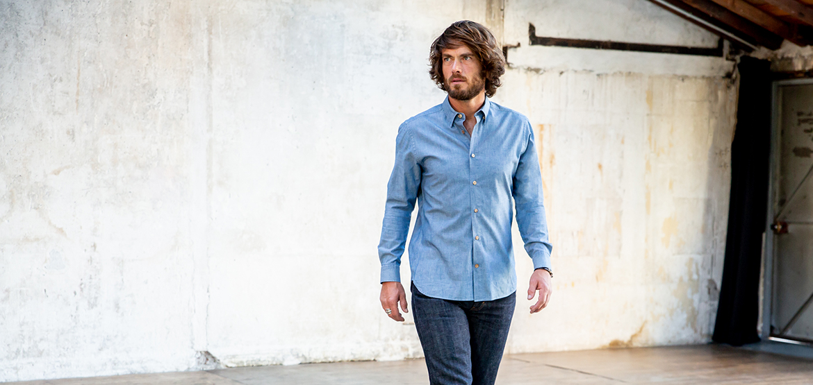 coupe chemise chambray albiate