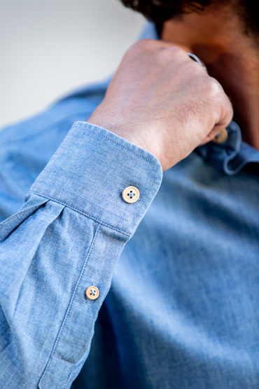 boutons chemise chambray italien